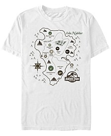 Jurassic Park Men's Isla Nublar Park Map Short Sleeve T-Shirt