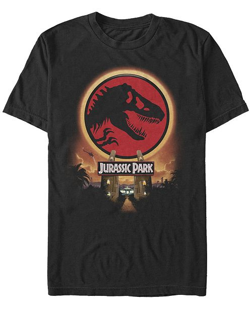 Jurassic Park Men's Welcome Gates Logo Short Sleeve T-Shirt