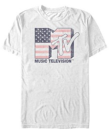 Men's American Flag Logo Short Sleeve T-Shirt