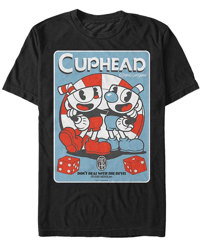 Cuphead Men's Cuphead And Mugman Don't Deal With The Devil Short Sleeve T-Shirt