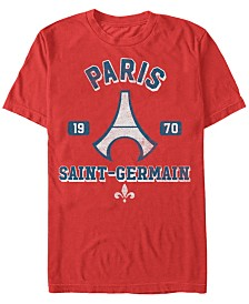 Paris Saint-Germain Men's Football Vintage Eiffel Tower Short Sleeve T-Shirt