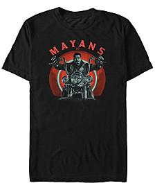 Mayans Men's M.C Geometric Ez Biker Short Sleeve T-Shirt