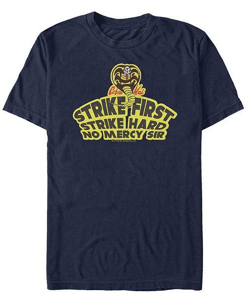 Cobra Kai Sony Men's The Karate Kid Strike First Short Sleeve T-Shirt