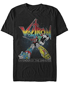 Men's Retro Rainbow Defender Of The Universe Short Sleeve T-Shirt
