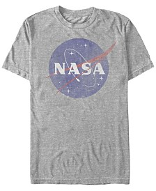 NASA Men's Vintage-Like Faded Logo Short Sleeve T-Shirts