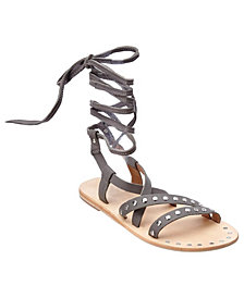 CHARLES By Charles David Steeler Flat Lace-Up Sandals
