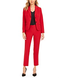 Notched-Lapel Blazer & Slim Straight-Leg Trousers