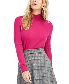 Maison Jules Mock-Neck Sweater, Created For Macy's
