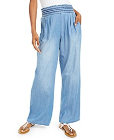 Juniors' Chambray Soft Pants