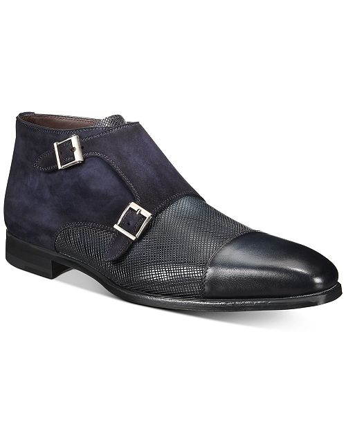 Massimo Emporio Men's Double Monk Strap Boots