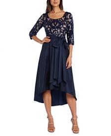 R & M Richards Sequin Mesh Dress