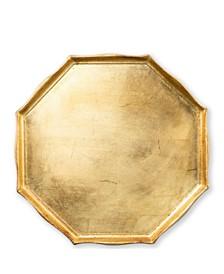 Vietri Florentine Wooden Octagonal Tray