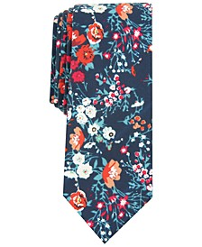Men's Montana Skinny Floral Tie, Created for Macy's