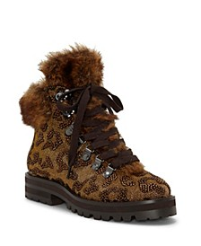 Norina Embellished Hiker Booties