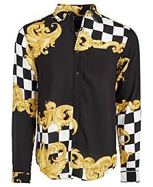 Men's Avenue Regular-Fit Printed Shirt