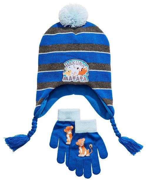 Disney Little & Big Boys 2-Pc. The Lion King Heidi Hat & Gloves Set