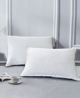 2 Pack White Goose Feather Down Bed Pillows, Size- Queen
