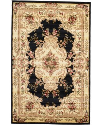 Belvoir Blv5 Black 5' x 8' Area Rug