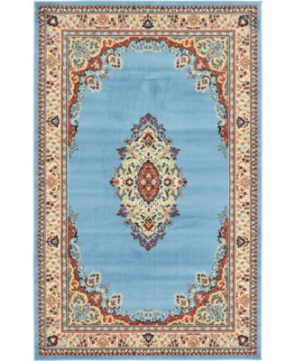 Birsu Bir1 Light Blue 4' x 6' Area Rug