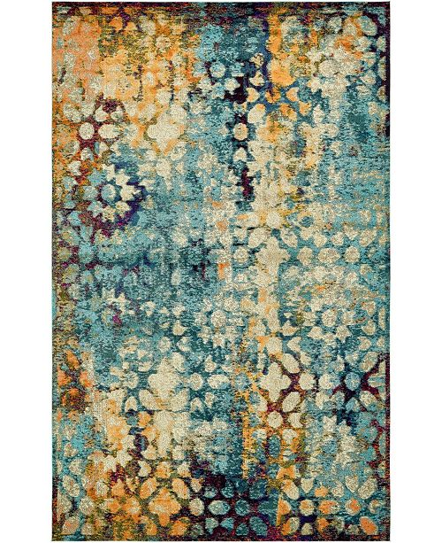 Bridgeport Home Brio Bri1 Blue Area Rug Collection