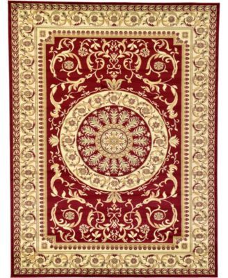 Belvoir Blv2 Red 6' x 6' Square Area Rug