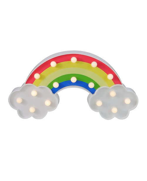 Northlight Battery Operated LED Lighted Rainbow with Clouds Marquee Sign
