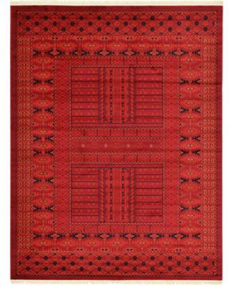 Vivaan Viv1 Red 9' x 12' Area Rug
