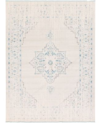 Norston Nor2 Ivory 8' x 8' Square Area Rug
