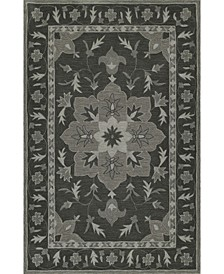 Torrey Tor4 Charcoal Area Rugs Collection