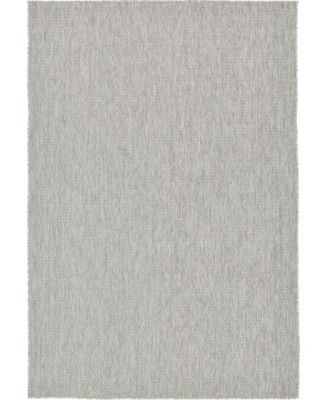 Pashio Pas6 Light Gray 4' x 6' Area Rug