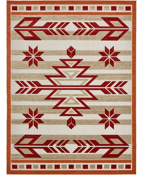 Bridgeport Home Pashio Pas2 Burgundy Area Rug Collection