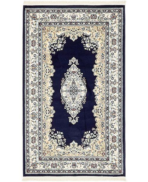 Bridgeport Home Zara Zar1 Navy Blue Area Rug Collection
