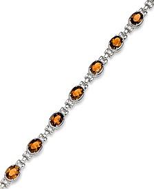 Sterling Silver Bracelet, Citrine Oval Link Bracelet (10 ct. t.w.)