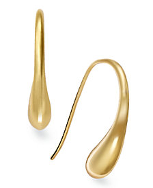 Giani Bernini 18K Gold over Sterling Silver Earrings, Teardrop J Hoop Earrings