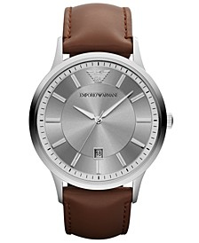 Watch, Men's Brown Leather Strap 43mm AR2463