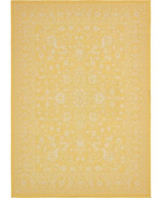 Pashio Pas6 Yellow 7' x 10' Area Rug