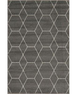 Plexity Plx1 Dark Gray 4' x 4' Round Area Rug