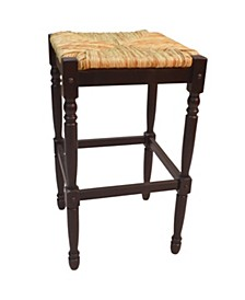 """French Country 30"""" Turned Leg Seat Stool"""