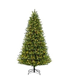 Puleo International 6.5 ft Pre-Lit Green Mountain Fir Artificial Christmas Tree with 500 UL-Listed Clear Lights