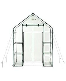 Deluxe Walk-in 3 Tier 6 Shelf Portable Greenhouse