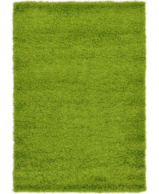 Exact Shag Exs1 Grass Green 4' x 6' Area Rug
