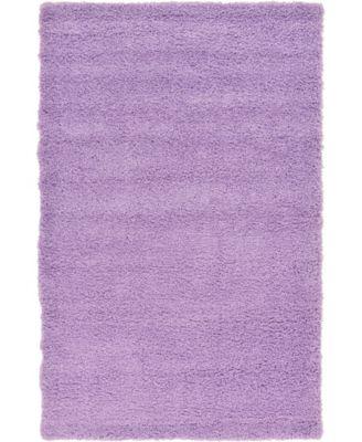Exact Shag Exs1 Lilac 6' x 9' Area Rug