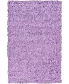 Exact Shag Exs1 Lilac Area Rug Collection