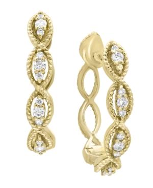 D'Oro By Effy Diamond (1/3 ct. t.w.) Drop Earrings in 14k Yellow Gold