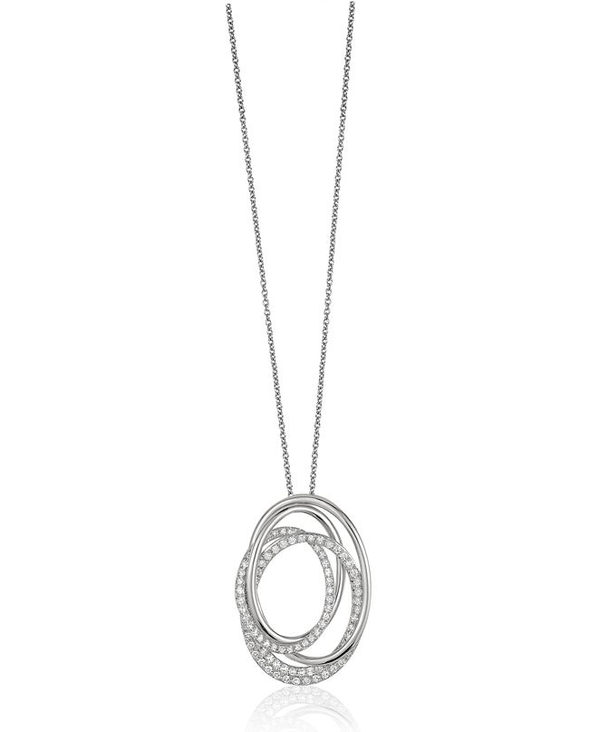 EFFY Collection Pave Classica By EFFY Diamond (3/8 ct. t.w.) Pendant in 14k White Gold