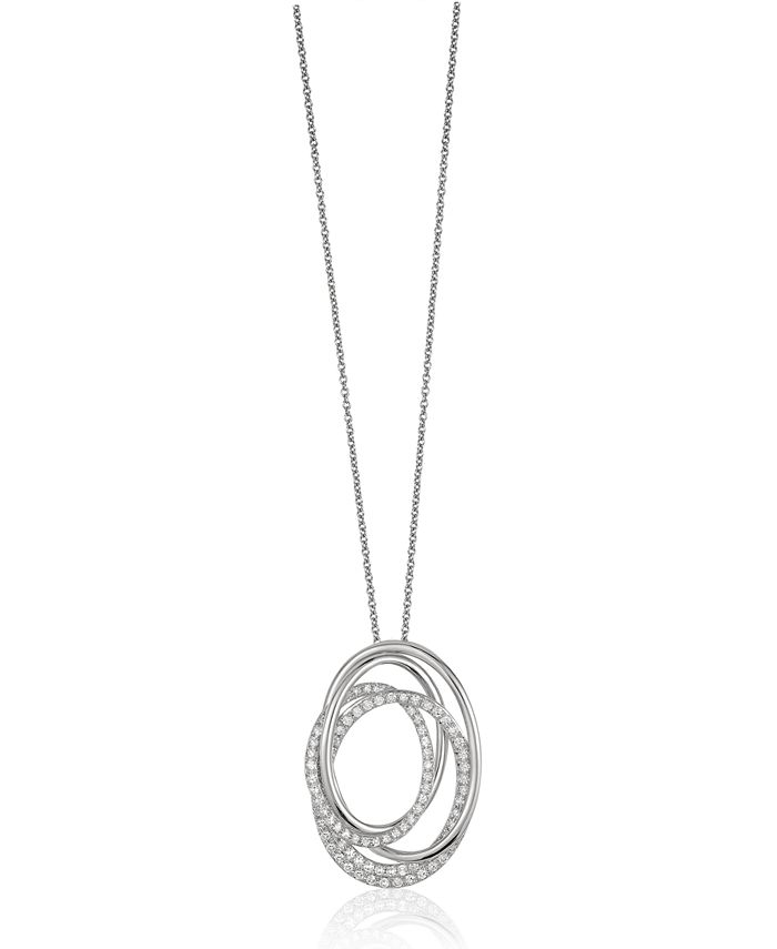 EFFY Collection - Pave Classica By EFFY Diamond Pendant in 14k White Gold