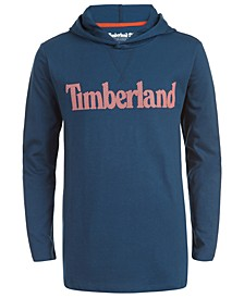 Big Boys Barnstead Teal Hooded Logo T-Shirt