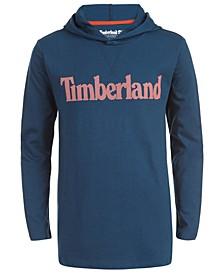 Big Boys Barnstead Teal Hooded Logo T-Shirt