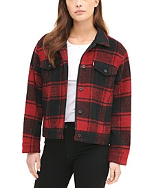 Women's Plaid Trucker Jacket