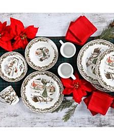 Christmas Toile 16-pc Dinnerware Set